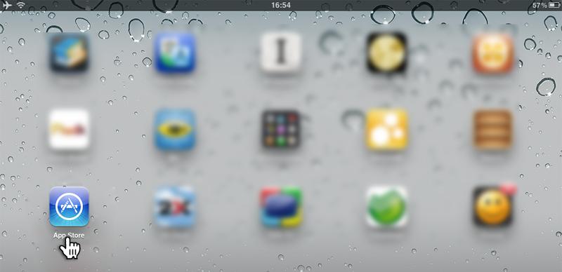 Откройте App Store на Вашем устройстве